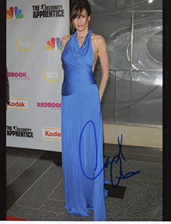 Carol Alt Signed Lovely In Blue Dress Color 8x10 Photo With COA pj