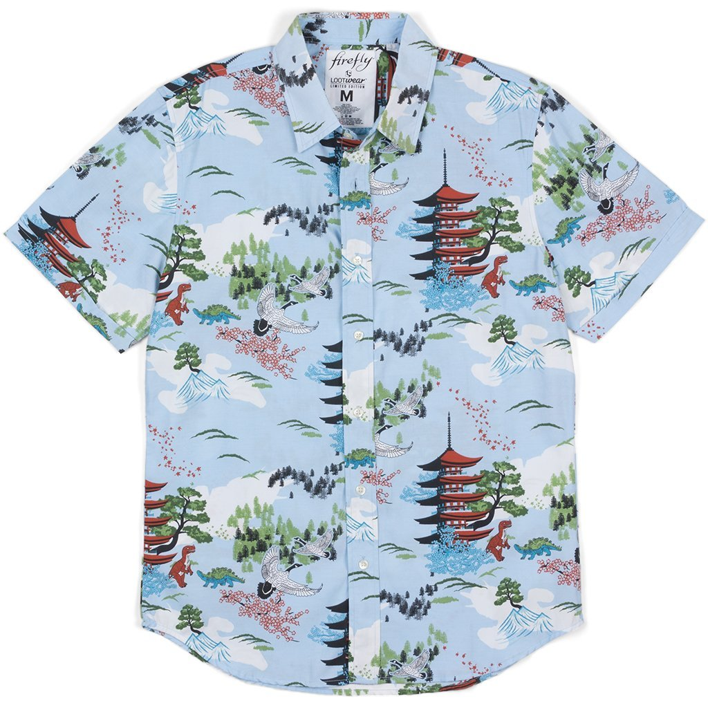 9142e47f Loot Crate Firefly Wash Hawaiian Men's Button Shirt Cargo Hoban washburne  Exclusive at Amazon Men's Clothing store: