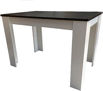 Möbel SD Hilde 110X70 Table de Salle à Manger Noir/Blanc ...