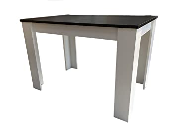 Möbel SD Hilde 110X70 Table de Salle à Manger Noir/Blanc: Amazon.fr ...