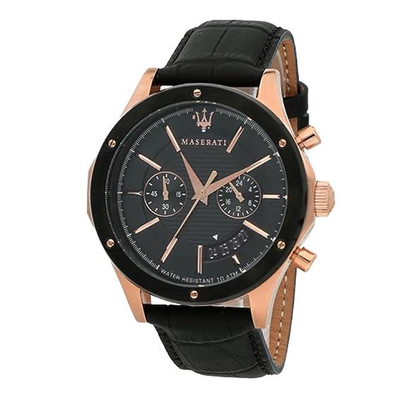MASERATI Reloj Cronógrafo para Hombre de Cuarzo con Correa en Cuero R8871627001: Amazon.es: Relojes