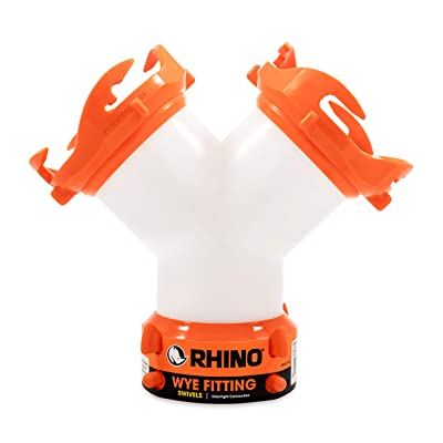 Camco RhinoFLEX RV Wye Fitting with 360 Degree Swivel Ends, Allows Sewer Hose and Lug Fittings Connection, Odor Protection (39812): Automotive