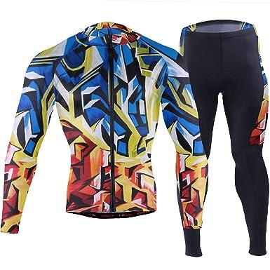 Amazon.com: FANTAZIO Abstracto Azul y Rojo Arte Ciclismo ...