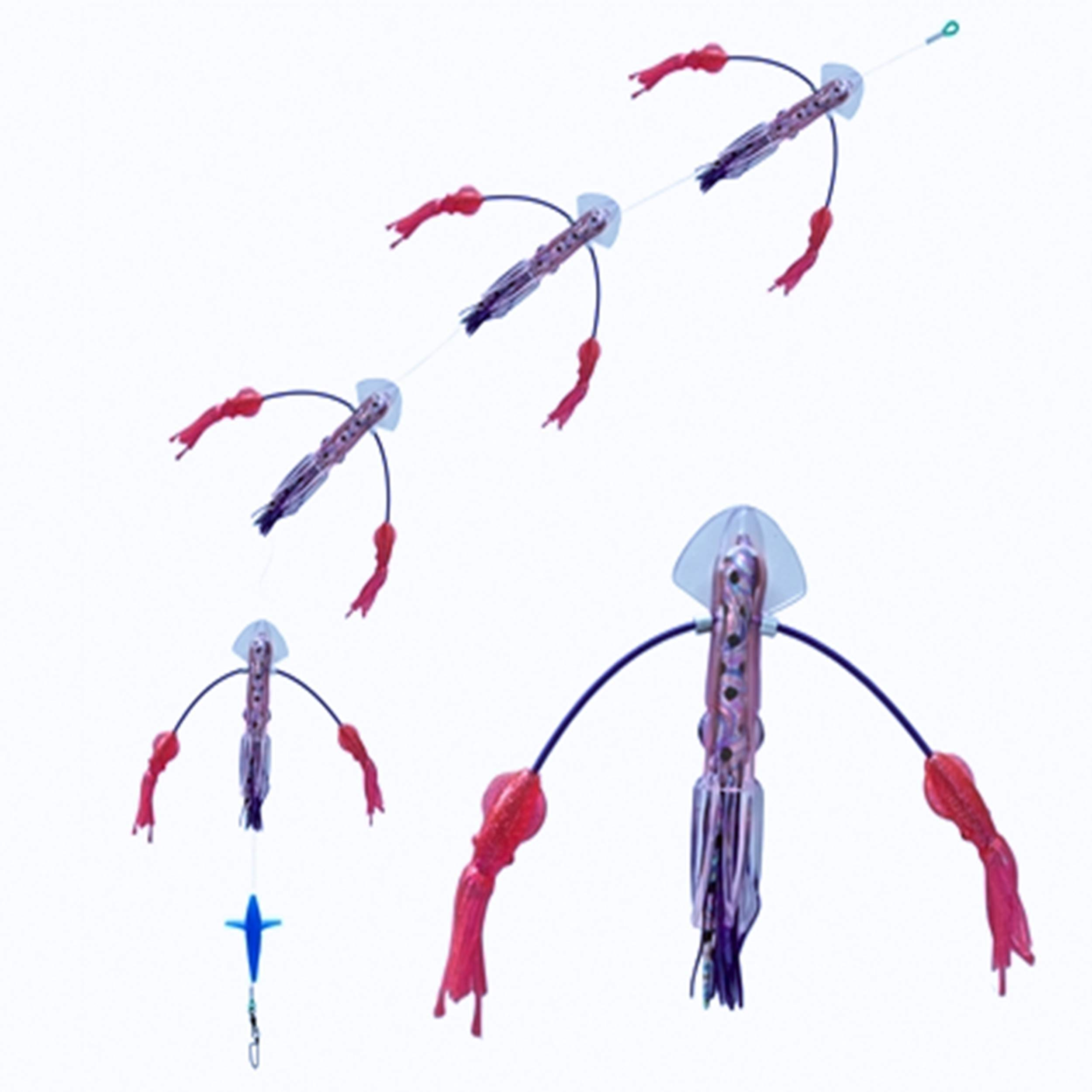 Squidnation Long Tail Flippy Floppy Thing Fishing Daisy Chain Tuna & Marlin Magnet (1143)