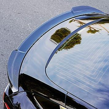 Rear Trunk Roof Trim Lip Spoiler Tail Fit Tesla Model 3 2017 2018 2019 BMZX Carbon Fiber Spoiler for Model 3 Trunk Lip Spoiler Wing Rear Spoiler Lip Kit