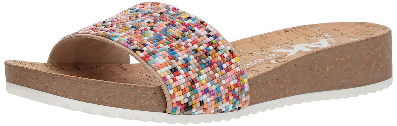 Anne Klein Women's Qtee Slide Sandal B0793ZTYJN 9 B(M) US|Light Pink/Natural Synthetic