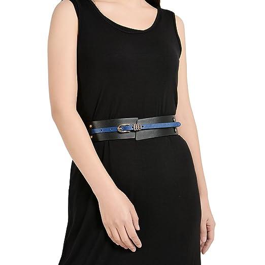 cc1b854a3d93 Fioretto Leather Belts for Women Wide Waist Belt Waistband Skinny Belt  Dual-use Womens Belts