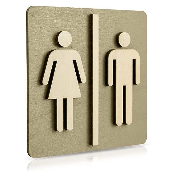 Manschin Laserdesign WC Cartel Nogal Oscuro Madera de WC ...