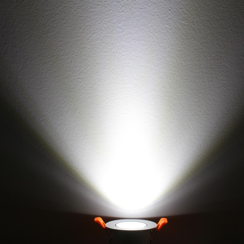 dimmerabile Lightingwill 4-Pack Dimmable 220.00volts 110.00volts alluminio Natural White 4000k-4500k Faretto Downlight LED CRI80,/5/W