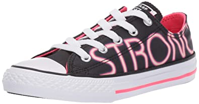 b9bb5f7819 Converse Girls Kids' Chuck Taylor All Star Shimmer Graphic Low Top Sneaker,  Black/