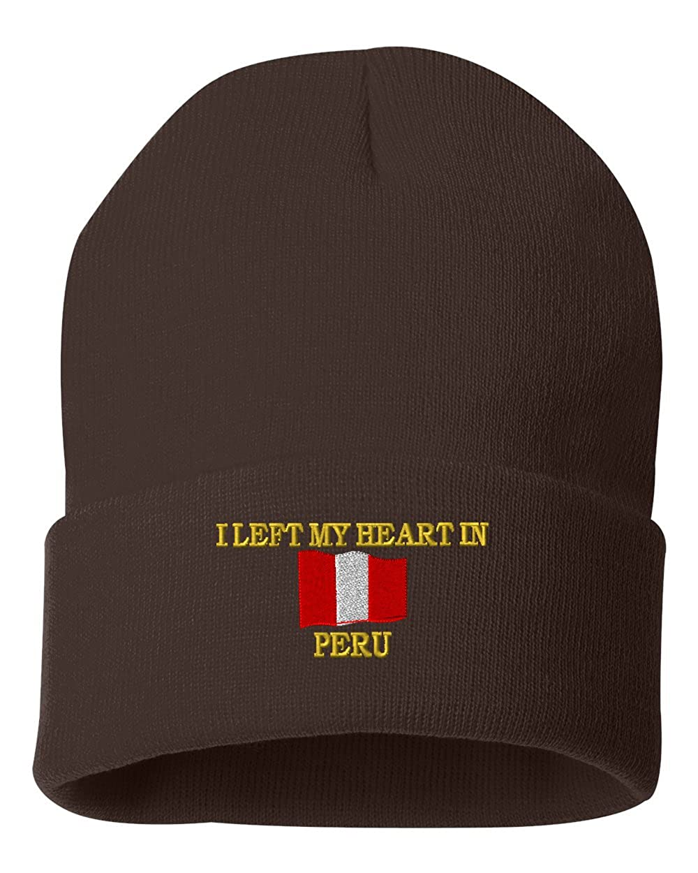I LEFT MY HEART IN PERU Custom Personalized Embroidery Embroidered Beanie