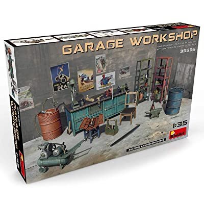 Plastic Model Kit – Garage Workshop - 1/35 Scale Diorama Accessories - Plastic Model Kits to Build for Adults - Military Miniatures - Diorama Kit: Toys & Games