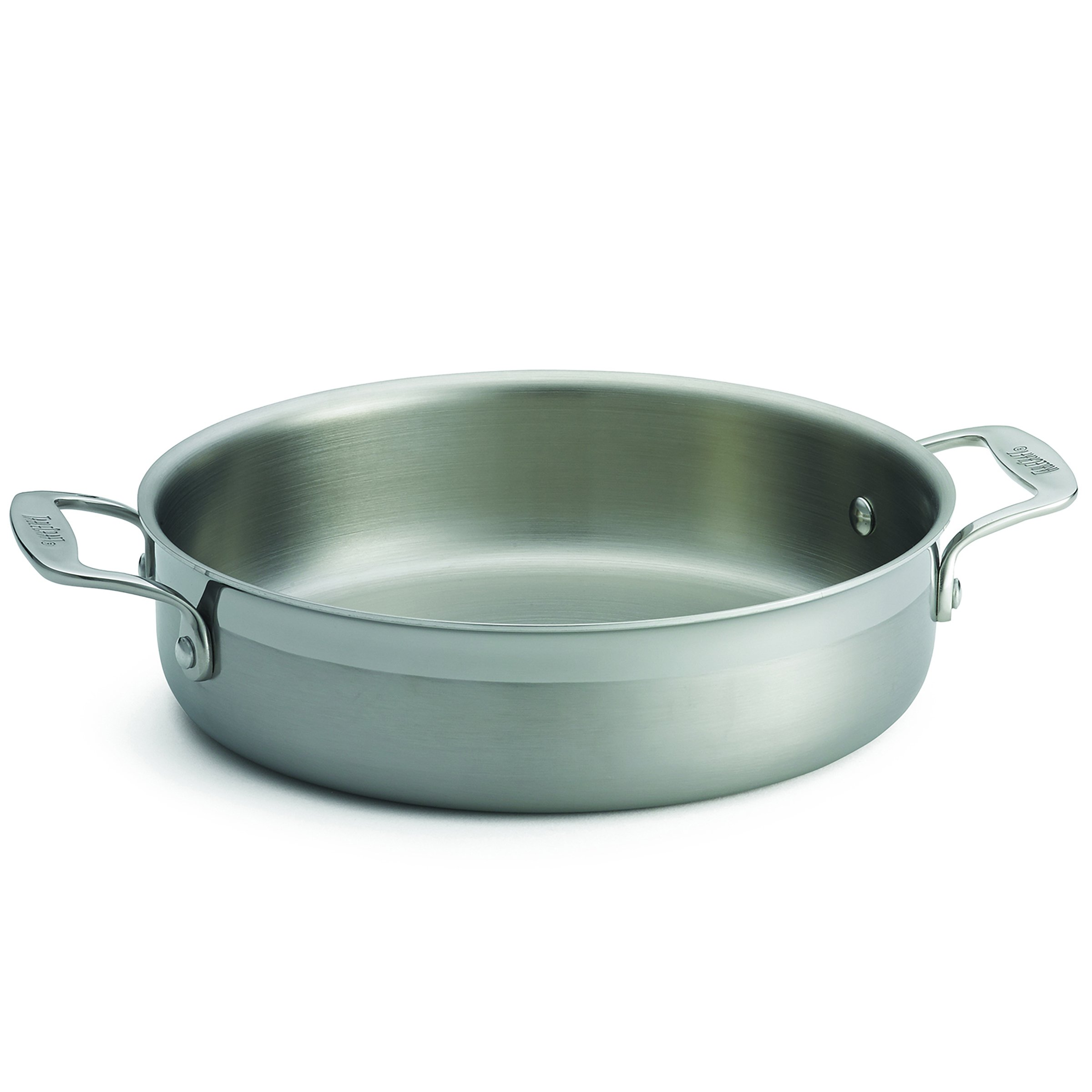 TableCraft Products CW7010 Tri-Ply Brazier with 2 Handles,10'' Diameter x 2½'', 5'' Height, 10'' Width, 13.125'' Length
