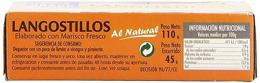 Ubago Langostillos, Elaborado con Marisco Fresco - 45 g: Amazon.es: Amazon Pantry