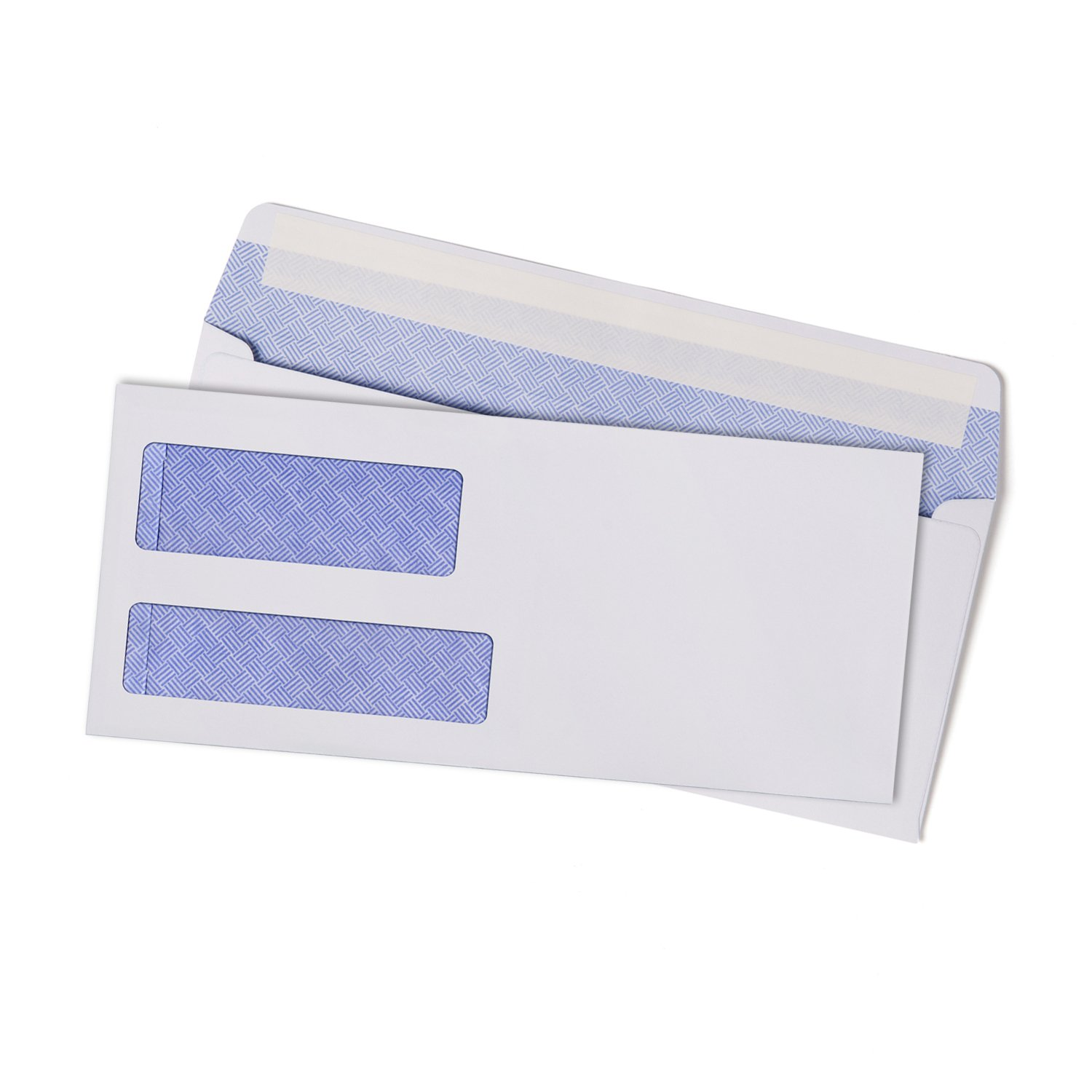 500 8 check envelopes by sigma source self seal double window