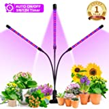 Grow Light, Ankace 60W Tri Head Timing 60 LED 5 Dimmable Levels Plant Grow Lights for Indoor Plants with Red Blue…