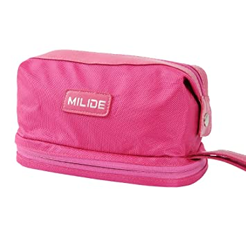 Deluxe Pink Canvas Men   Women Toiletry Bag – Sturdy   Durable Travel  Organizer With Strong 80e0a25e8f12d