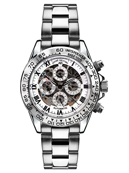 André Belfort 410165 - Reloj para hombres, correa de acero inoxidable color plateado: André Belfort: Amazon.es: Relojes