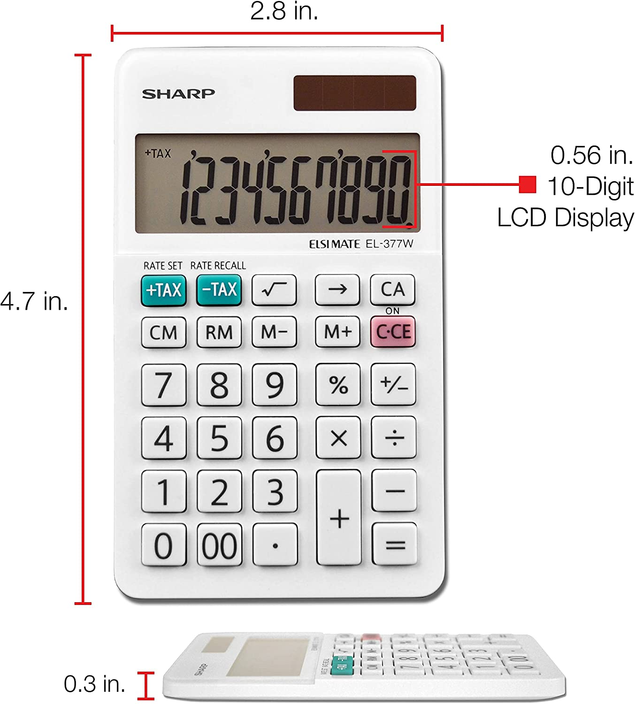 Office Equipment - Lcd 12 Character Solar, s Sharp El339hb Desktop ...