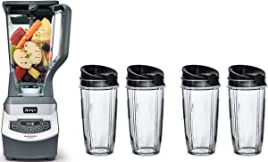 Ninja Professional Countertop Blender (1100-Watt Blender with 4 16oz to-go Cups)
