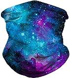 Samefar Unisex Seamless Rave Bandana Neck Gaiter Tube Mask Headwear, Motorcycle Face Mask for Women Men Face Scarf