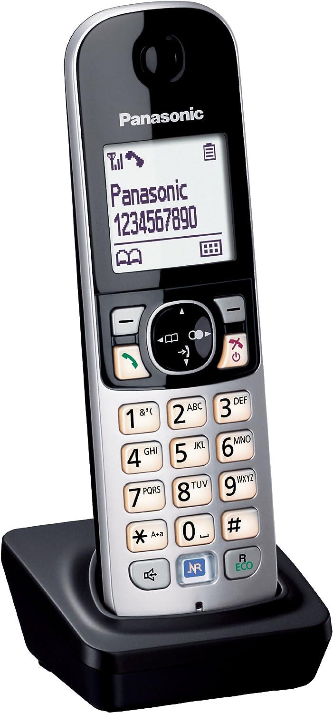 Panasonic KX-TGA681EXB - Teléfono Dect, Supletorio de Color Negro [versión importada]: Amazon.es: Electrónica