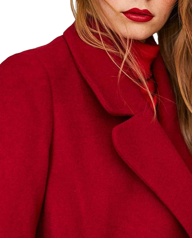 Stradivarius Women Woolly Coat with Belt 5869//130