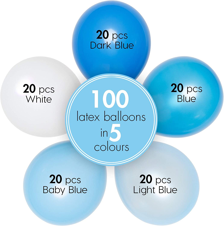 "PA 20 x 60TH ANNIVERSAIRE Bleu Mix 12/"" hélium ou Airfill ballons"