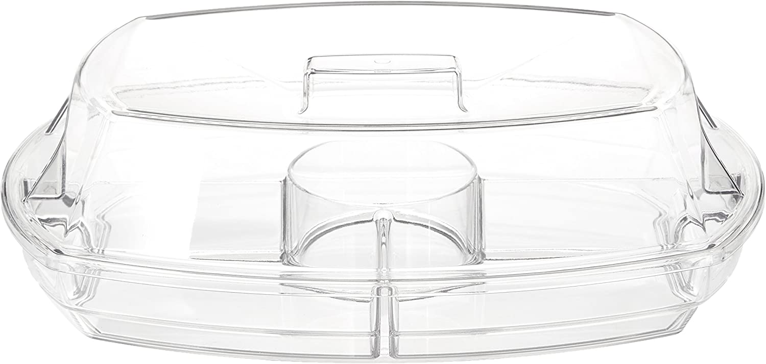 "Prodyne SB-5 Flip-Lid Appetizers On Ice, 15"", Clear"