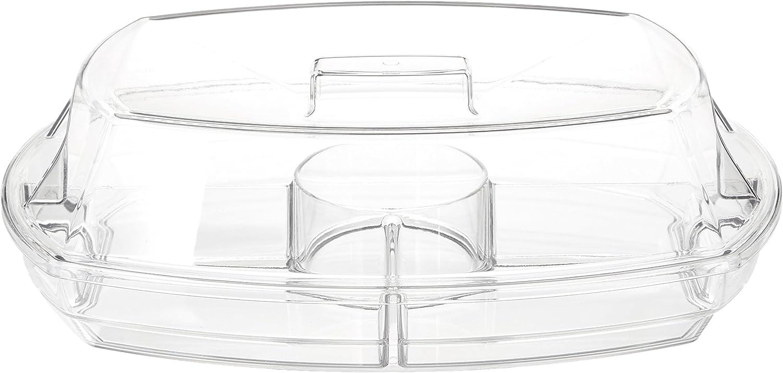 """Prodyne SB-5 Flip-Lid Appetizers On Ice, 15"""", Clear"""