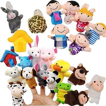 JZK Juguete Marionetas de Mano Animales Marionetas de Dedos pequeños Juguetes Peluche para niños Detalles Fiesta Regalo cumpleaños Rellenos de Bolsas ...