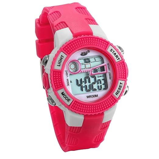 JewelryWe Relojes para Niños Niñas Reloj Deportivo Digital Para Aire Libre Reloj Infantil Rojo, 3ATM A Prueba de Agua Dibujos Animados: Amazon.es: Relojes