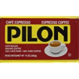 Pilon Espresso 100% Arabica Coffee, 10-Ounce Bricks (Pack of 4)