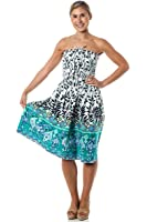 One-size-fits-most Tube Dress/Coverup - Aztec Garden (many colors)