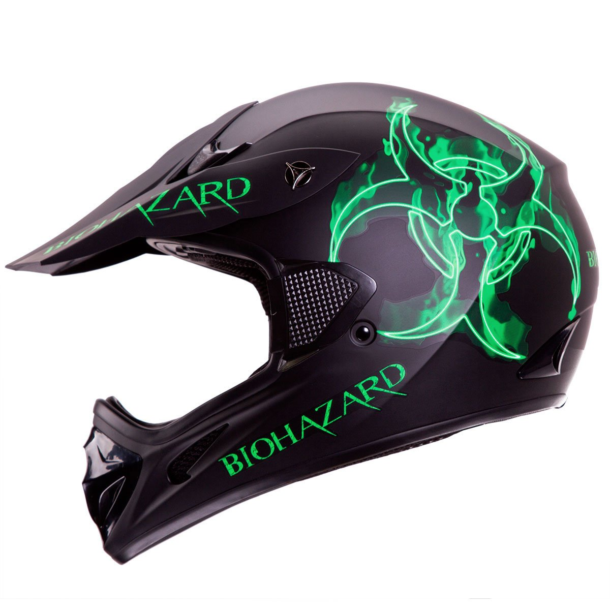Iv2 Biohazard Matte Black High Performance Motocross