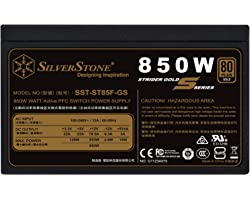 SilverStone Technology 850W Computer Power Supply PSU Fully Modular with 80 Plus Gold & 140mm Design Power Supply (SST-ST85F-