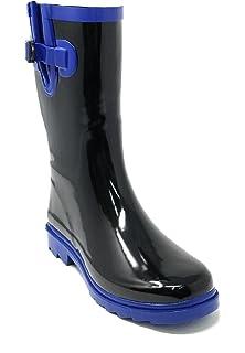 95e795b13308 Women's Rubber Rain Boots Mid-Calf 11