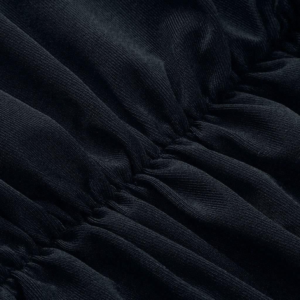Soupliebe Vestido de Elegancia Vestido de Cuello v Profundo Vestido sin Espalda Mujer Vestido Largo un Vestido de Linea Falda del Vendaje Falda de Fiesta Vestido Diario