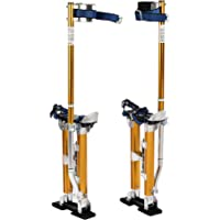 "SUNCOO Professional Drywall Stilt Adjustable 18-30""Adjustable Height Heavy Duty Aluminum Highest Quality Stilts Yellow"