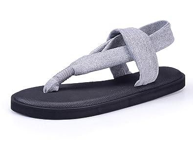 c55a1b8c481cdf Santiro Grey Yoga Mat Sole Sling Thong Sandals Flat Thongs Flip Flops  Slingback Flip-Flops