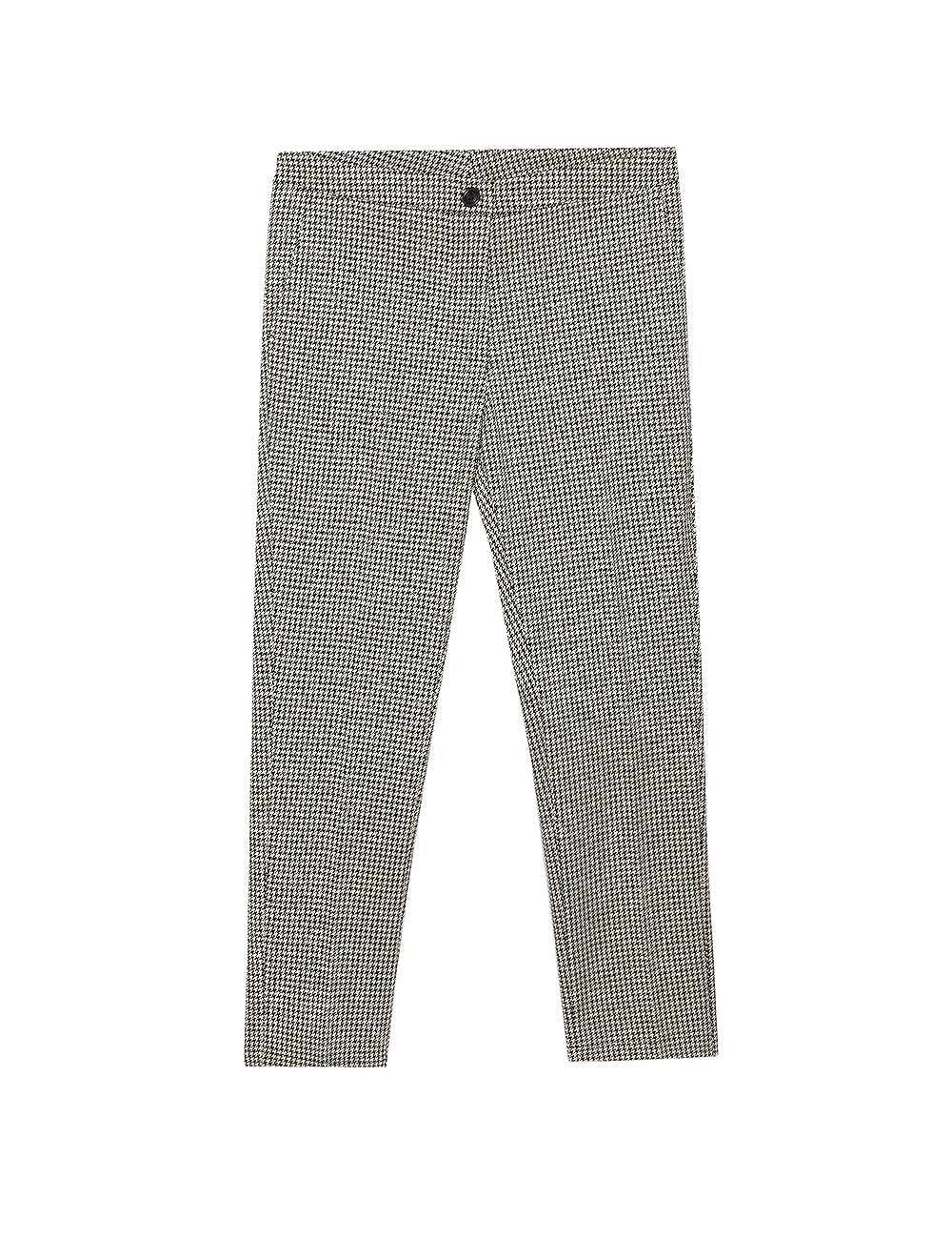 Oltre Italian Size Pantaloni Skinny Pied de Poule