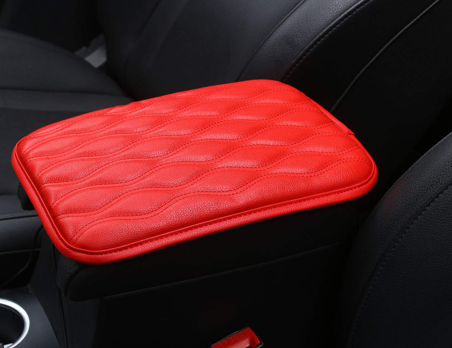 Car Armrest Seat Box Cover Protector Universal Fit C-Brown Alusbell Auto Center Console Pad