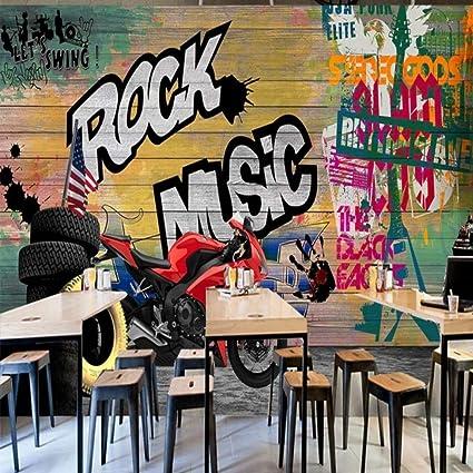 Amazon Com Amazhen Wallpaper 3d Custom Street Art Motorcycle