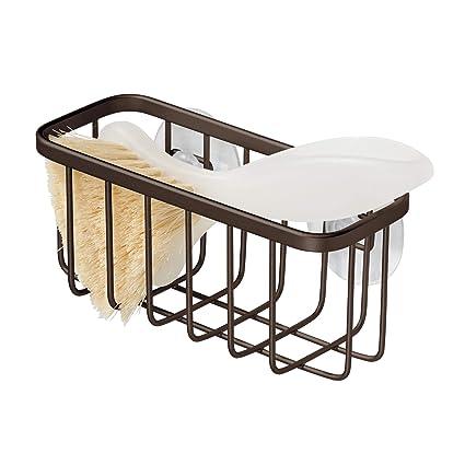 Amazon Com Interdesign Gia Suction Kitchen Sink Caddy Sponge