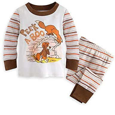 Disney The Fox and the Hound PJ PALS Pajamas for Baby Size 6-9 MO