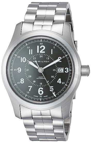 Hombre Correa Hamilton 42mm Reloj De Automático Khaki Field Acero VpLSzqMGU