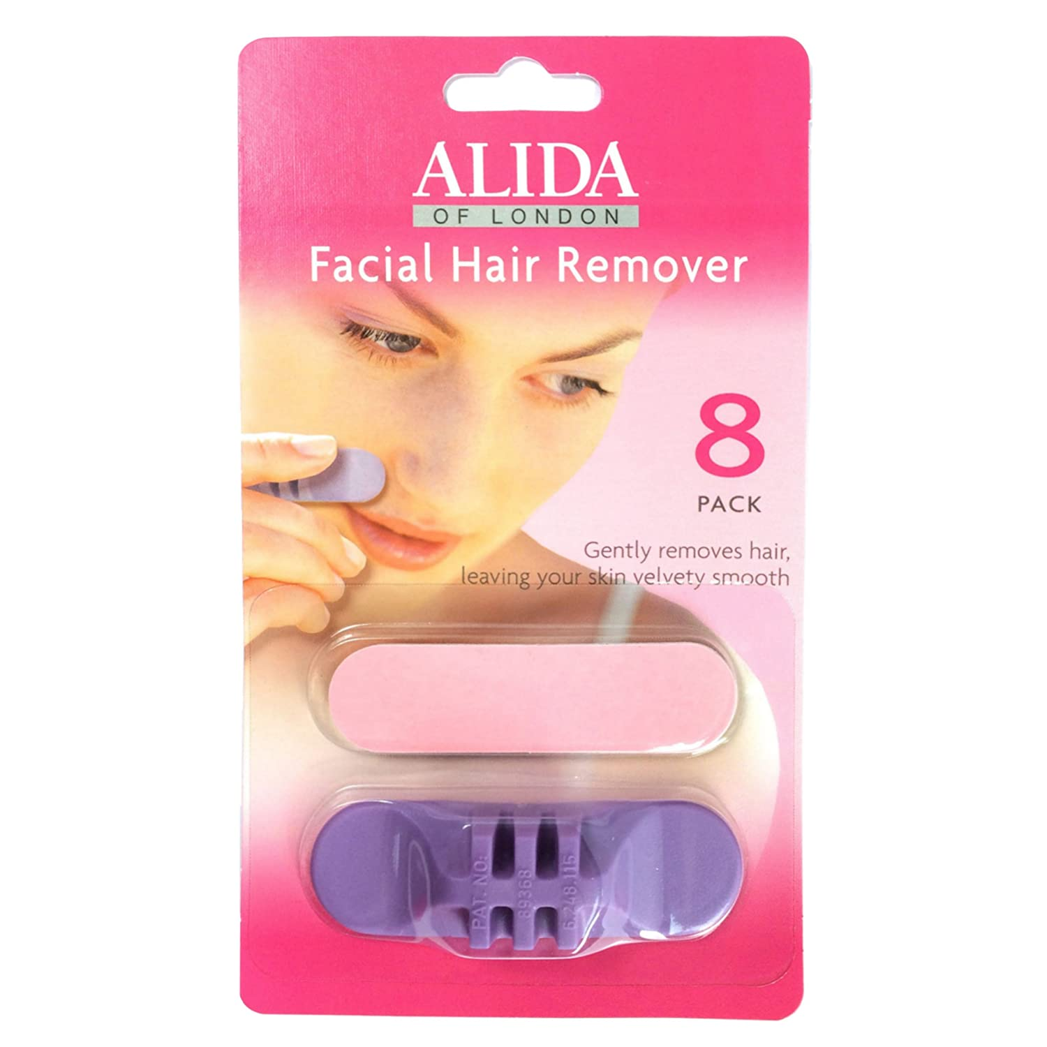 Facial Hair Remover pads by Alida - single pack 20201100