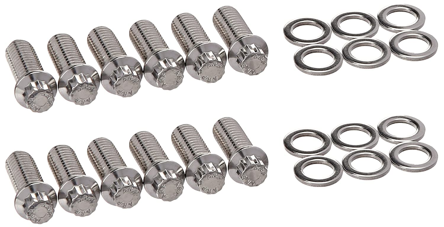 Set Of 12 ARP 4001209 Header Bolts With 12-Point Heads Polished Stainless Steel