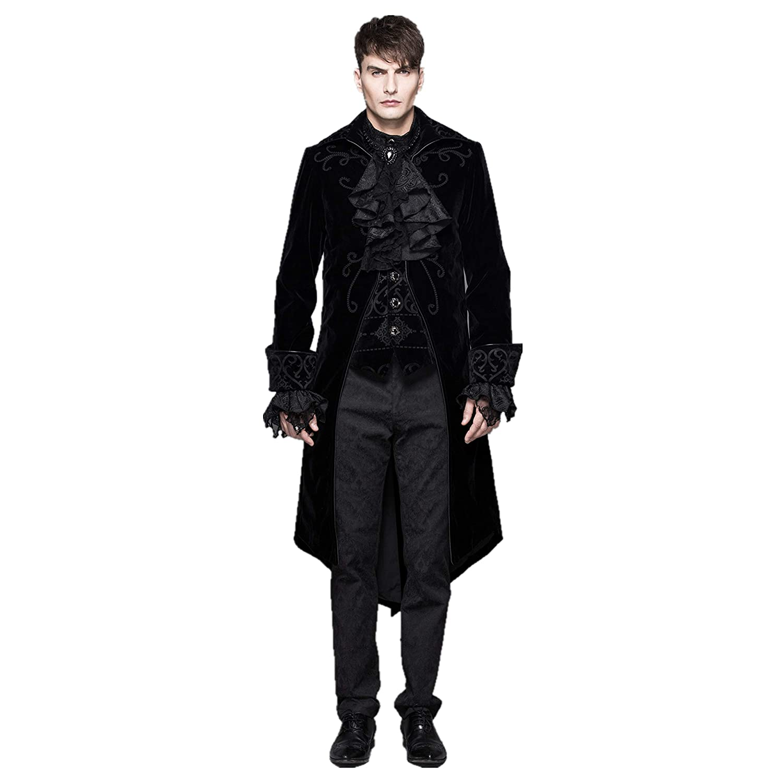 BLACK AND PURPLE MENS COUNT DRACULA FANCY DRESS VAMPIRES CAPE HALLOWEEN