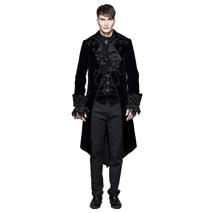 Amazon.com: Devil Fashion - Chaqueta de boda gótica vintage ...